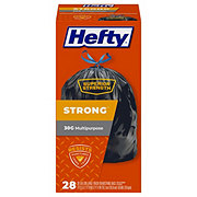 Hefty Extra Strong Drawstring 30 Gallon Trash Bags