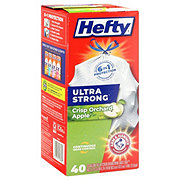 Hefty Ultra Strong Clean Apple Scent Drawstring Tall Kitchen 13 Gallon Trash Bags