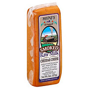 Heini's Smoked Raw Milk Cheddar Cheese