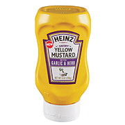 Heinz Savory Yellow Mustard with Garlic & Herb