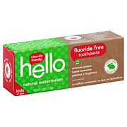 Hello Flouride Free Kids Watermelon Toothpaste