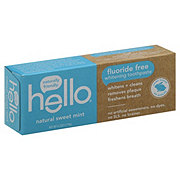 Hello Fluoride Free Natural Sweet Mint Toothpaste