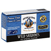 Henry & Lisa's Natural Seafood Wild Sardines In Spring Water
