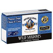 Henry & Lisa's Natural Seafood Wild Sardines In Spring Water