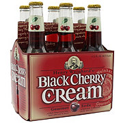 Henry's Black Cherry Cream Gourmet Soda 12 oz Bottles