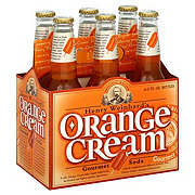 Henry's Orange Cream Gourmet Soda 6 PK Bottles