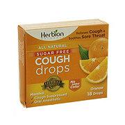 Herbion Naturals Sugar Free Cough Drops Orange