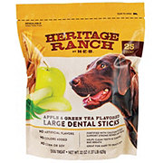 Heritage Ranch by H-E-B Apple Green Tea Dental Sticks Dog Treats