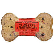 Heritage Ranch by H-E-B Cranberry Orange Jumbo Biscuit Dog Treat