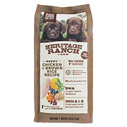 Heritage Ranch by H-E-B Puppy Chicken & Brown Rice Recipe Dry Dog Food