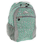 High Sierra Curve Backpack, Mint Leopard