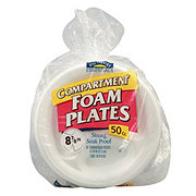 Hill Country Essentials Compartment Foam Plates, 8-7/8 inch