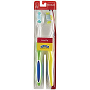 Hill Country Essentials Curved Tip Medium Toothbrushes - Colors May Vary