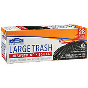 Hill Country Essentials Drawstring Large 30 Gallon Trash Bags