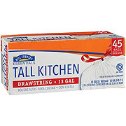 Hill Country Essentials Drawstring Tall Kitchen 13 Gallon Trash Bags
