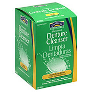Hill Country Essentials Effervescent Denture Cleanser Minty Fresh Tablets