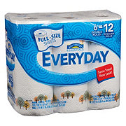 Hill Country Essentials Everyday Full Size Sheets Double Roll Paper Towels
