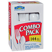 Hill Country Essentials Everyday White Knives, Forks and Spoons Combo Pack