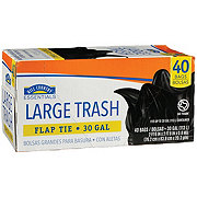Hill Country Essentials Flap Tie Large 30 Gallon Trash Bags