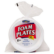 Hill Country Essentials Foam Plates, 8-7/8 inch