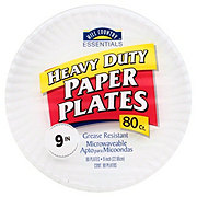 Hill Country Essentials Heavy Duty Paper Plates, 9 inch