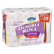 Hill Country Essentials Lavender Scent Double Roll Bath Tissue