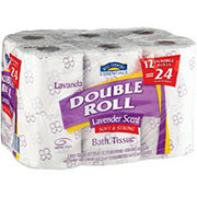 Hill Country Essentials Lavender Scented Double Roll Bath Tissue