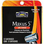 Hill Country Essentials Maxus5 Five Blade Refill Cartridges with Trimmer