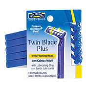 Hill Country Essentials Men's Twin Blade Plus with Pivoting Head Disposable Razors