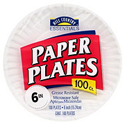 Hill Country Essentials Paper Plates, 6 inch