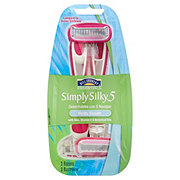 Hill Country Essentials Simply Silky 5 Disposables Vividly Smooth Women's Razors