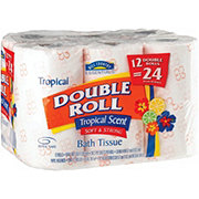 Hill Country Essentials Soft and Strong Tropical Scent Double Roll Bath Tissue