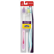 Hill Country Essentials Tongue Cleaner & Gum Massaging Medium Toothbrushes