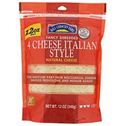 Hill Country Fare 4 Cheese Italian Style Cheese, Shredded