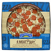 Hill Country Fare 4 Meat Pizza
