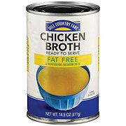 Hill Country Fare 99% Fat  Chicken Broth