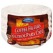 Hill Country Fare Basket Coffee Filters, 4-6 Cup, White