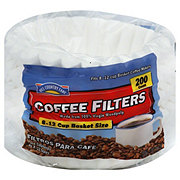 Hill Country Fare Basket Coffee Filters, 8-12 Cup, White