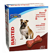 Hill Country Fare Basted Large Dog Biscuits