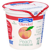 Hill Country Fare Blended Low-Fat Peach Yogurt