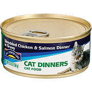 Hill Country Fare Cat Dinners Shredded Chicken and Salmon Dinner in Gravy