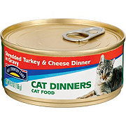 Hill Country Fare Cat Dinners Shredded Turkey and Cheese Dinner in Gravy