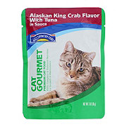 Hill Country Fare Cat Gourmet Alaskan King Crab Flavor with Tuna in Sauce Premium Cat Food