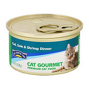 Hill Country Fare Cat Gourmet Cod Sole and Shrimp Dinner Premium Cat Food