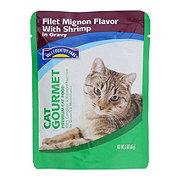 Hill Country Fare Cat Gourmet Filet Mignon Flavor with Shrimp in Gravy Premium Cat Food