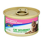 Hill Country Fare Cat Gourmet Flaked Salmon and Ocean Whitefish Dinner Premium Cat Food