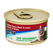 Hill Country Fare Cat Gourmet Grilled Beef and Liver Dinner in Gravy Premium Cat Food