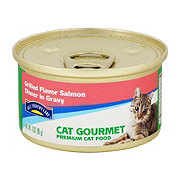 Hill Country Fare Cat Gourmet Grilled Salmon Dinner in Gravy Premium Cat Food