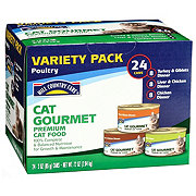 Hill Country Fare Cat Gourmet Poultry Premium Wet Cat Food Variety Pack