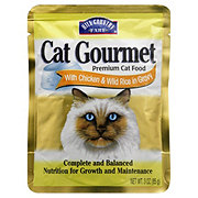 Hill Country Fare Cat Gourmet Premium Cat Food with Chicken and Wild Rice in Gravy